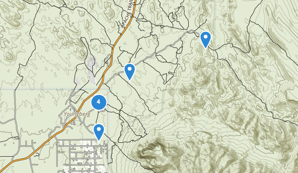 trail locations for Lost Dutchman State Park