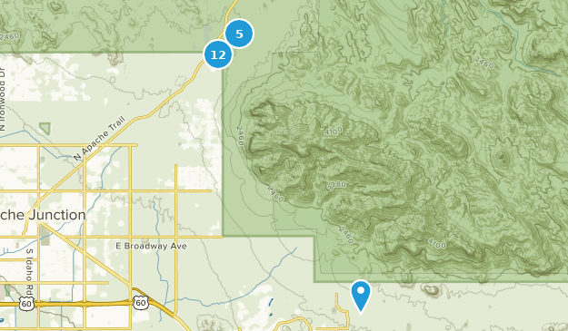 Lost Dutchman State Park Map