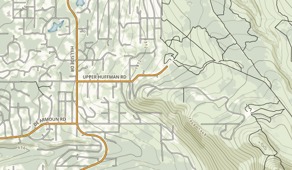 Glen Alps Trailhead and Viewpoint Map