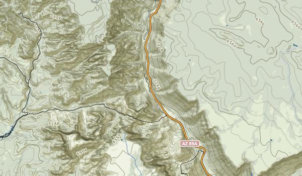 Slide Rock State Park Map