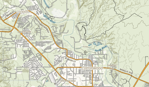 Verde River Greenway State Natural Area Map