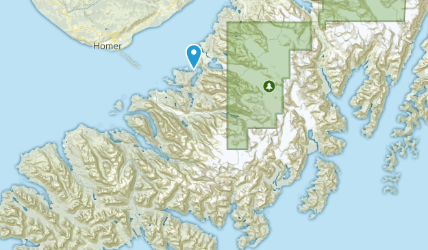 Kachemak Bay State Park Map