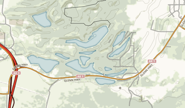 Kepler-Bradley Lakes State Recreation Area Map
