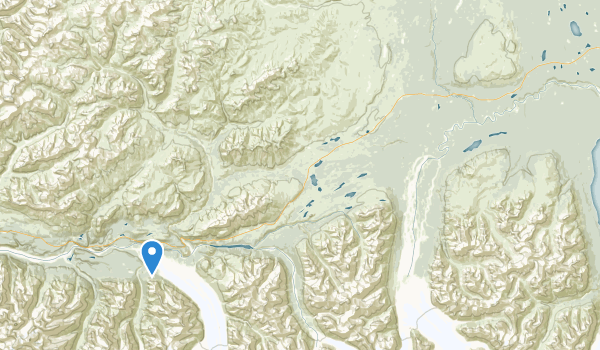 trail locations for Matanuska Glacier State Recreational Site