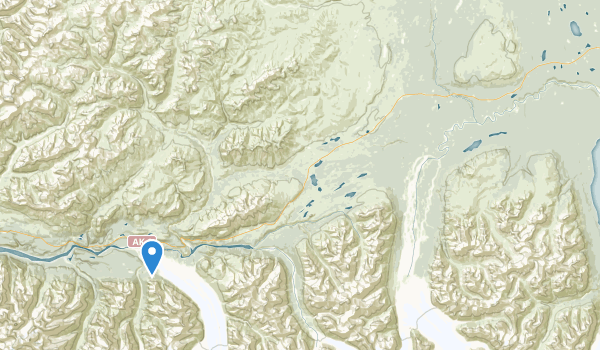 Matanuska Glacier State Recreational Site Map