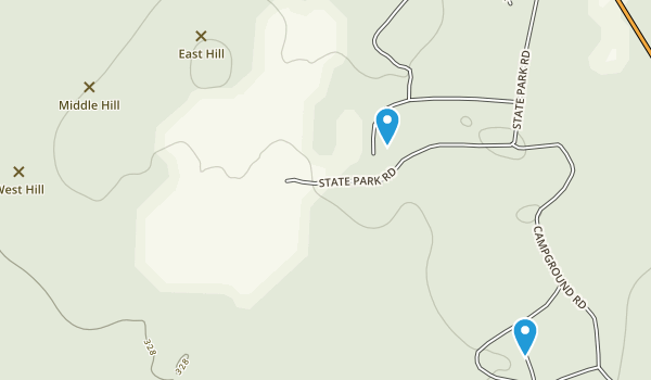 Crater of Diamonds State Park Map