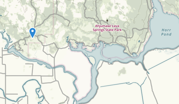 Ahjumawi Lava Springs State Park Map