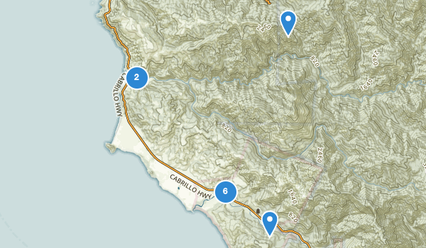 trail locations for Andrew Molera State Park