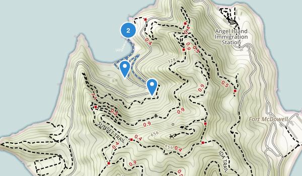 Angel Island State Park Map