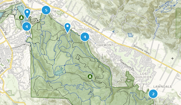 Annadel State Park Map Best Trails in Annadel State Park   California | AllTrails