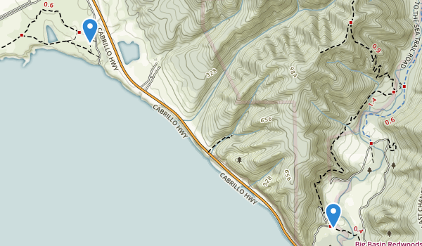 trail locations for Año Nuevo State Park