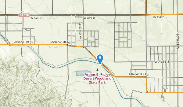 trail locations for Arthur B. Ripley Desert Woodland State Park