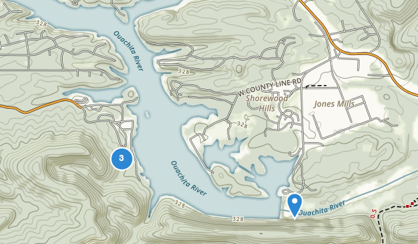 trail locations for Lake Catherine State Park