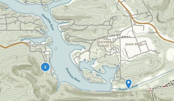 Lake Catherine State Park Map