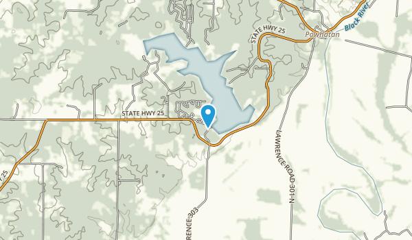 Lake Charles State Park Map