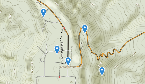 trail locations for Mount Nebo State Park