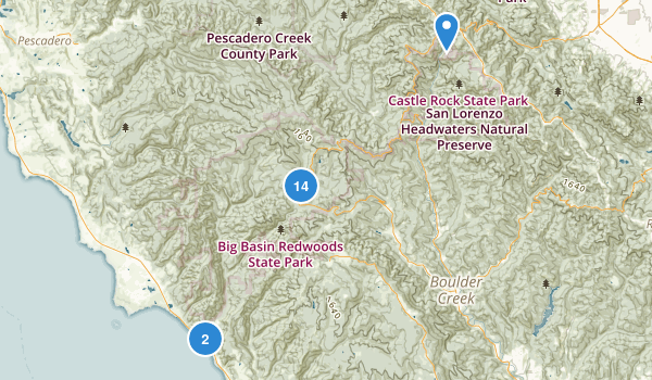 Big Basin Redwoods State Park Map