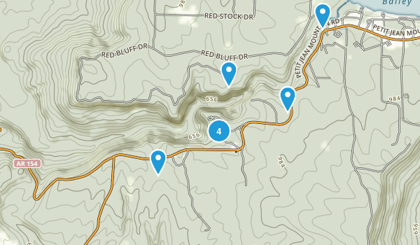 Petit Jean State Park Map