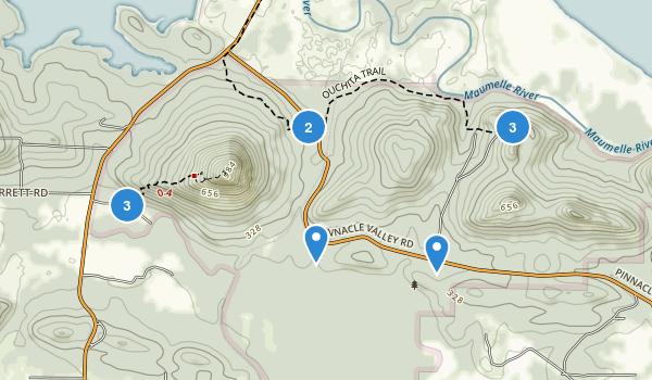 Pinnacle Mountain State Park Map