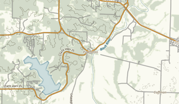 Powhatan Historic State Park Map
