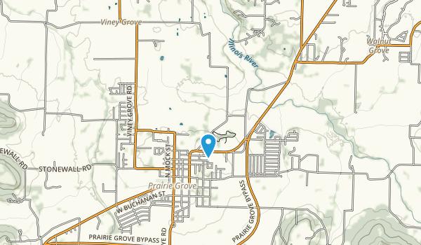 Prairie Grove Battlefield State Park Map