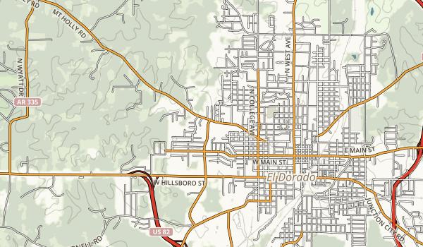 South Arkansas Arboretum Map