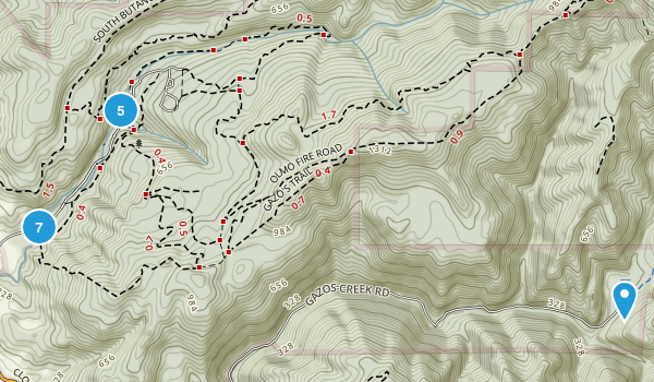 Butano State Park Map