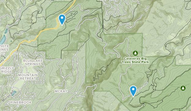 Calaveras Big Trees State Park Map