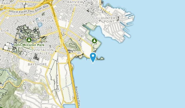 Área de recreación estatal de Candlestick Point Map