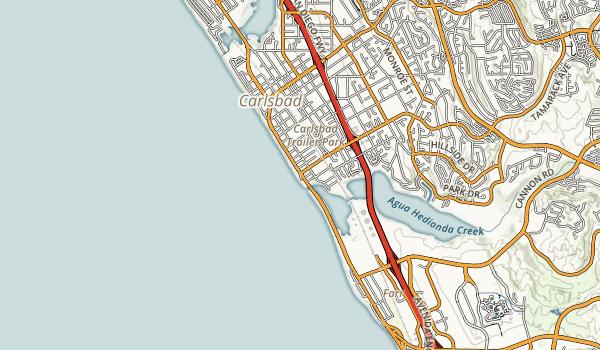 Carlsbad State Beach Map