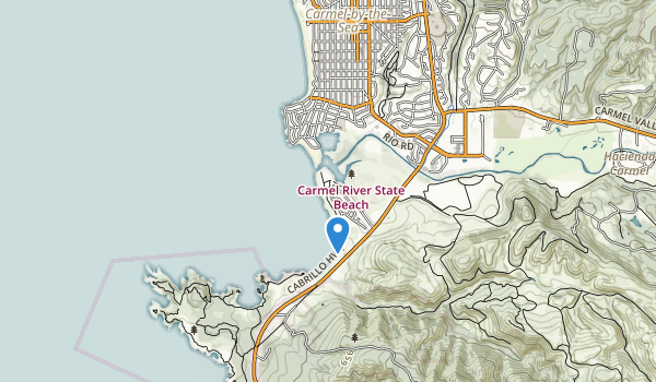 trail locations for Carmel River State Beach