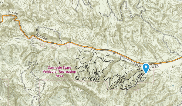 Carnegie State Vehicular Recreation Area Map