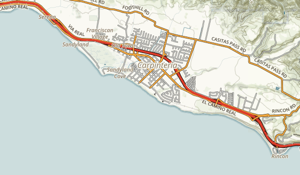 Carpinteria State Beach Map