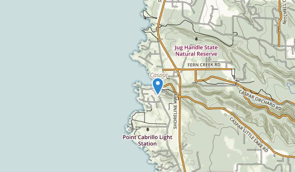 Caspar Headlands State Natural Reserve Map