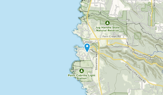 Caspar Headlands State Natural Reserve Map