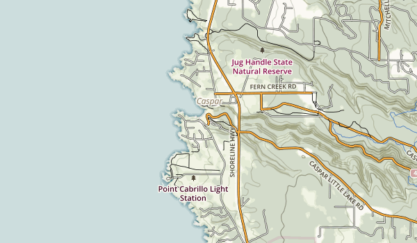 Caspar Headlands State Beach Map