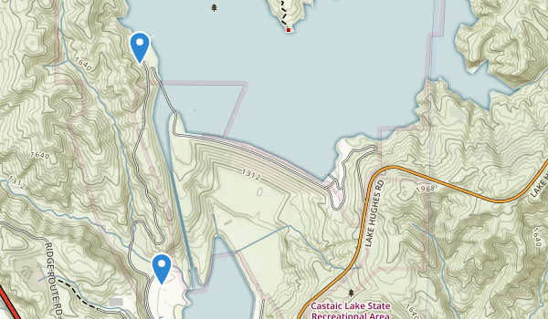 Castaic Lake State Recreation Area Map