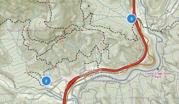 Castle Crags State Park Map