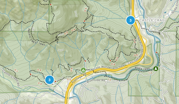 Schloss Crags State Park Map