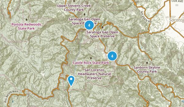 Castle Rock State Park Map
