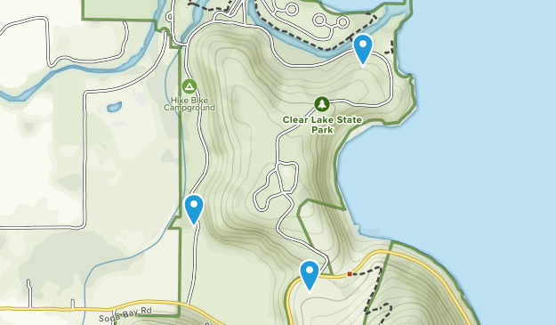 Clear Lake State Park Map