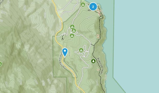 D. L. Bliss State Park Map
