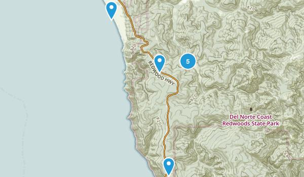 Del Norte Coast Redwood State Park Map