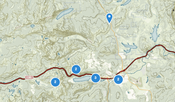 trail locations for Donner Memorial State Park