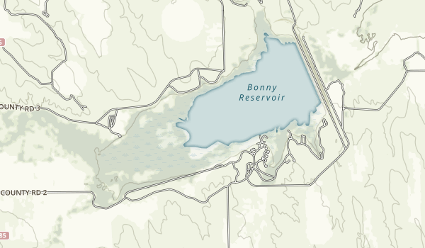 Bonny Lake State Park Map