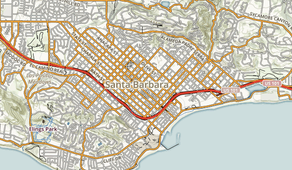El Presidio de Santa Barbara State Historic Park Map