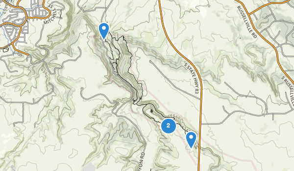 trail locations for Castlewood Canyon State Park