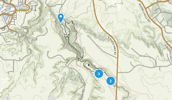 Castlewood Canyon State Park Map