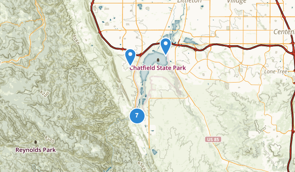 trail locations for Chatfield State Park