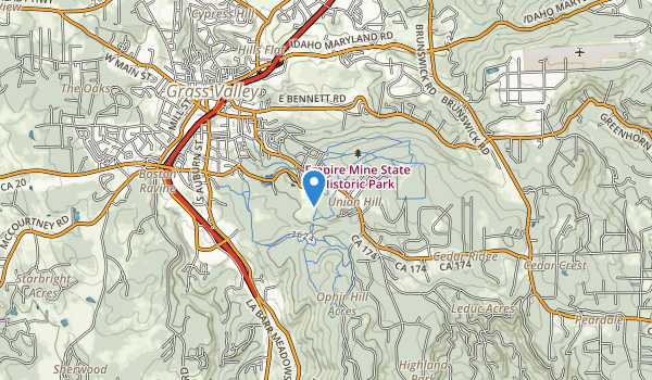 trail locations for Empire Mine State Historic Park